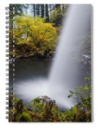 Unique View Of Ponytail Falls Spiral Notebook