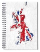 United Kingdom Painted Flag Map Spiral Notebook