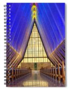 United States Airforce Academy Chapel Interior Spiral Notebook