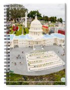 United States Capital Building At Legoland Spiral Notebook