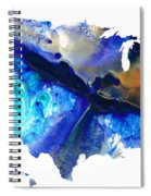 United States Of America Map 7 - Colorful Usa Spiral Notebook