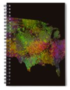 Unites States Watercolor Map Spiral Notebook