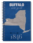 University At Buffalo New York Bulls College Town State Map Poster Series No 022 Spiral Notebook