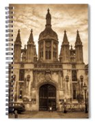 University Entrance Door Sepia Spiral Notebook