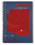 University Of Arizona Wildcats Tuscon Arizona College Town State Map Poster Series No 011 Spiral Notebook