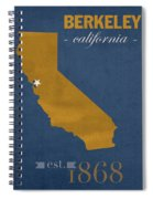 University Of California At Berkeley Golden Bears College Town State Map Poster Series No 024 Spiral Notebook
