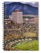 University Of Colorado Boulder Go Buffs Spiral Notebook