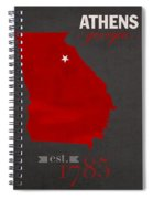 University Of Georgia Bulldogs Athens College Town State Map Poster Series No 040 Spiral Notebook