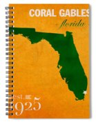 University Of Miami Hurricanes Coral Gables College Town Florida State Map Poster Series No 002 Spiral Notebook