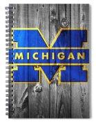 University Of Michigan Spiral Notebook