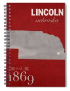 University Of Nebraska Lincoln Cornhuskers College Town State Map Poster Series No 071 Spiral Notebook