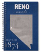 University Of Nevada Reno Wolfpack College Town State Map Poster Series No 072 Spiral Notebook