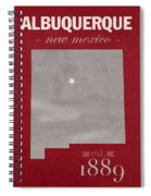 University Of New Mexico Albuquerque Lobos College Town State Map Poster Series No 074 Spiral Notebook