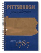 University Of Pittsburgh Pennsylvania Panthers College Town State Map Poster Series No 089 Spiral Notebook