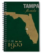 University Of South Florida Bulls Tampa Florida College Town State Map Poster Series No 101 Spiral Notebook