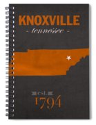 University Of Tennessee Volunteers Knoxville College Town State Map Poster Series No 104 Spiral Notebook