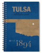 University Of Tulsa Oklahoma Golden Hurricane College Town State Map Poster Series No 115 Spiral Notebook