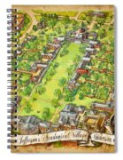 University Of Virginia Academical Village  With Scroll Spiral Notebook