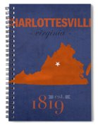 University Of Virginia Cavaliers Charlotteville College Town State Map Poster Series No 119 Spiral Notebook