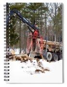 Unloading Firewood 1 Spiral Notebook