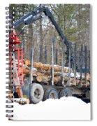 Unloading Firewood 2 Spiral Notebook
