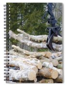 Unloading Firewood 4 Spiral Notebook