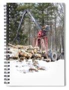 Unloading Firewood 5 Spiral Notebook