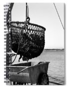 Unloading Fish From Monterey's Wharf Two Circa 1950  Spiral Notebook
