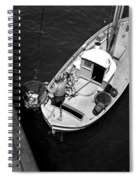 Unloading Fish At Wharf Two Monterey  Circa 1950  Spiral Notebook
