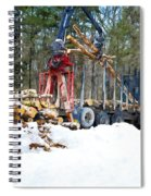 Unloading Of Logs On Transport Spiral Notebook