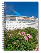 Unnamed Cruiser Docked On Waterfront Spiral Notebook