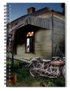 Unrestored 1924 Indian Chief And Australian Farm House Spiral Notebook