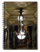 Unusual Lighting Fixture In Laduree On The Champs De Elysees Spiral Notebook