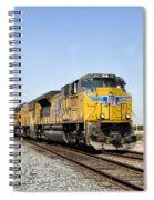 Up 8587 Southbound From Traver Spiral Notebook