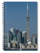 Up Close And Personal - Cn Tower Toronto Harbor And Skyline From A Boat Spiral Notebook