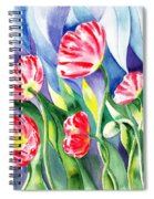 Upcoming Wind Poppy Field Spiral Notebook