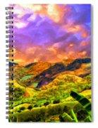 Upcountry Maui Sunset Spiral Notebook