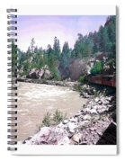 Uphill To Silverton Spiral Notebook