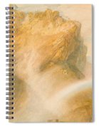 Upper Fall Of The Reichenbach - Rainbow Spiral Notebook