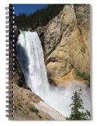 Upper Falls Yellowstone National Park Spiral Notebook