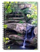 Upper Old Mans Cave Falls Spiral Notebook
