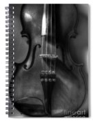 Upright Violin Bw Spiral Notebook