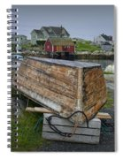 Upside Down Boat In Peggy's Cove Harbour Spiral Notebook