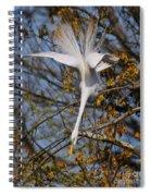 Upside Down Egret Spiral Notebook