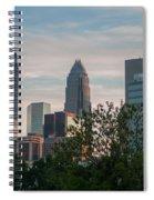 Uptown Charlotte North Carolina Cityscape Spiral Notebook