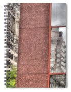 Urban Abstract Downtown Reflections Dayton Ohio Spiral Notebook