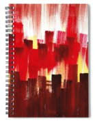 Urban Abstract Evening Lights Spiral Notebook