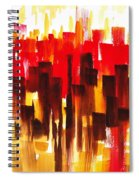 Urban Abstract Glowing City Spiral Notebook