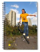 Urban Bmx Flatland With Monika Hinz Spiral Notebook