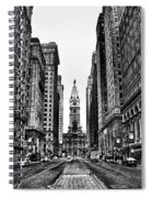 Urban Canyon - Philadelphia City Hall Spiral Notebook